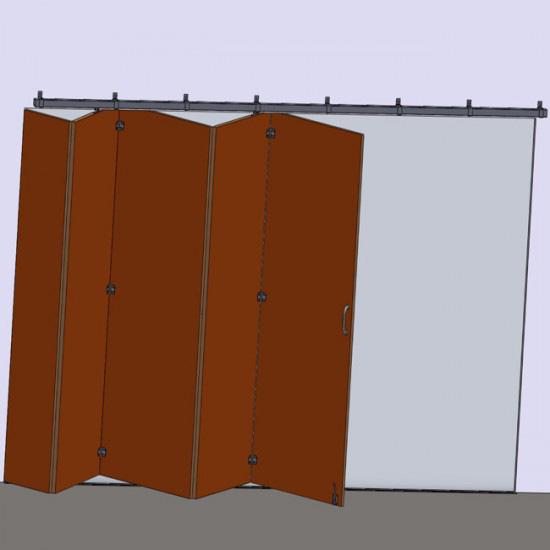 Herrajes para puertas correderas colgadas madera for Puerta de acordeon castorama