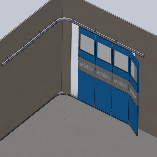 Herrajes para puertas estampaciones ebro share the for Puertas correderas colgadas