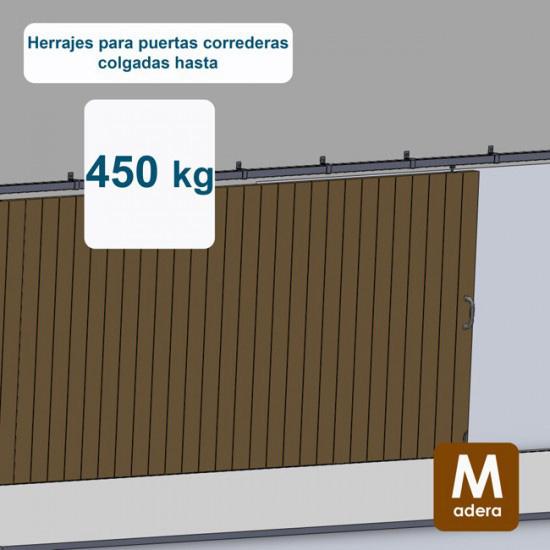 Herrajes puertas correderas hasta 450 Kg