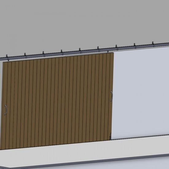Puertas correderas en madera armarios con puerta - Herrajes para puertas correderas ...