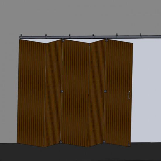 Herrajes puertas correderas plegabables solapadas