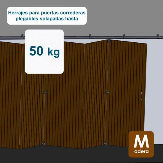 Herrajes puertas correderas plegables hasta 50 Kg