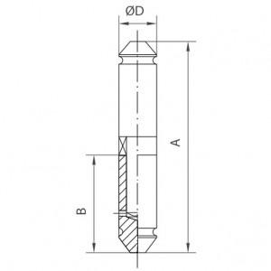 Pernio con remate con rodamiento axial