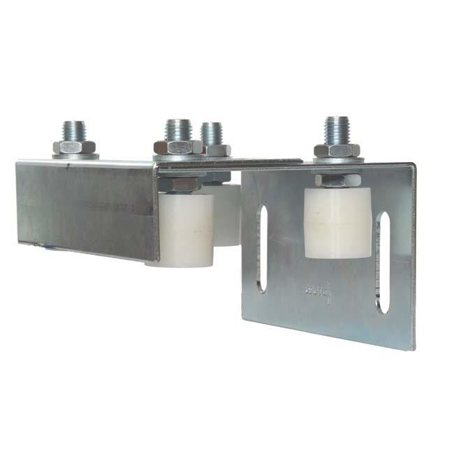Herrajes para puertas caja poleas gu a regulable a pared for Herrajes para puertas
