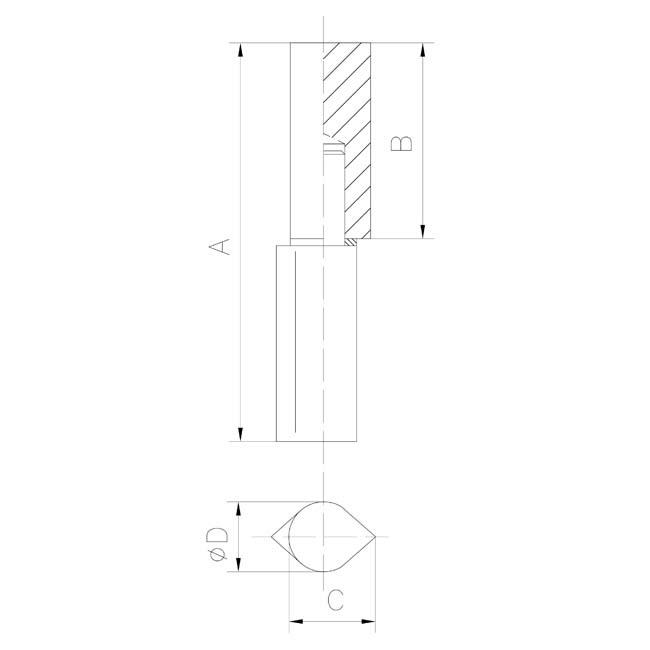 Herrajes para puertas pernio perfil gota con arandela de - Pernios para puertas ...
