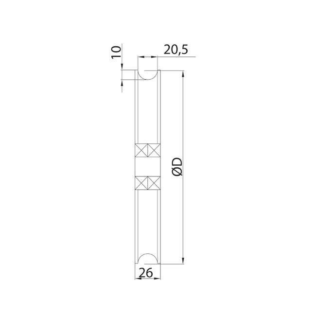 Herrajes para puertas polea doble rodamiento - Puerta corredera doble ...