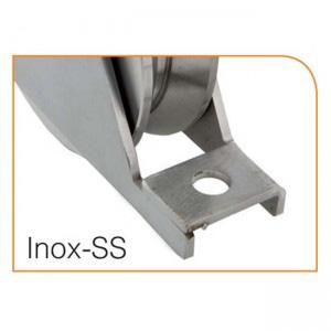 Herrajes para puertas: Polea nylon canal 20 mm U -