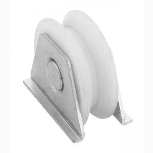 rueda para puerta corredera nylon soporte V