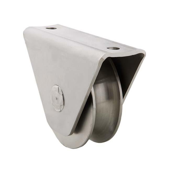 Herrajes para puertas polea canal 20 mm u con caja for Herrajes puertas correderas garaje