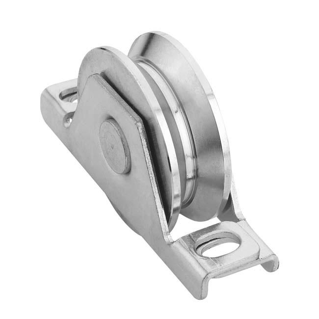 Herrajes para puertas polea canal 20 mm v para encastrar - Carril para puerta corredera ...