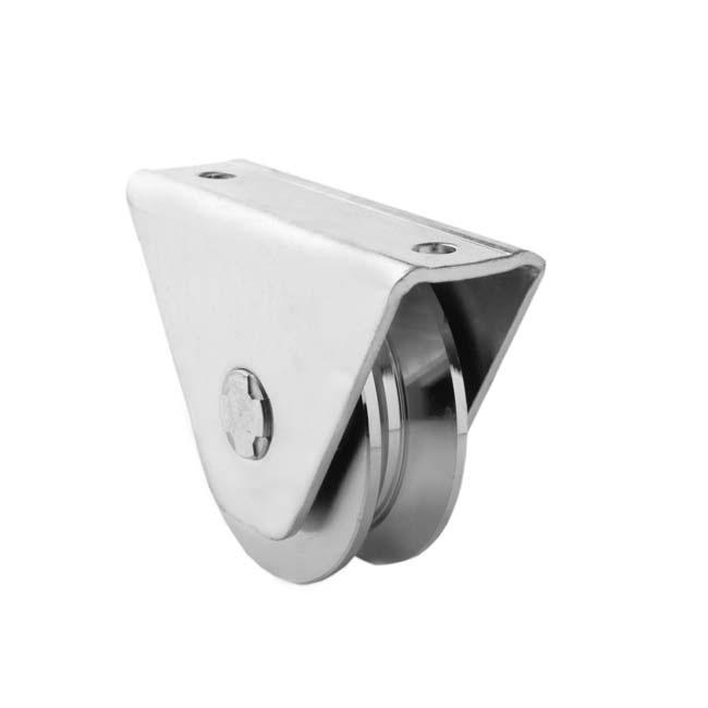 Herrajes para puertas polea canal 20 mm v con caja for Herrajes puertas correderas garaje