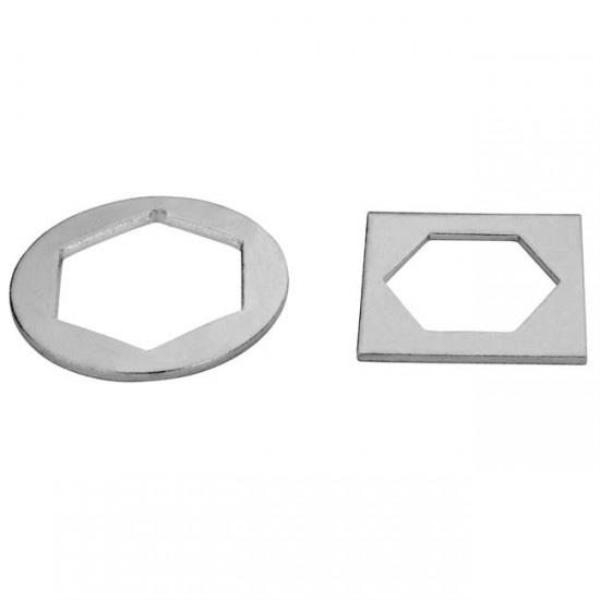 chapas hexagonales puerta basculante