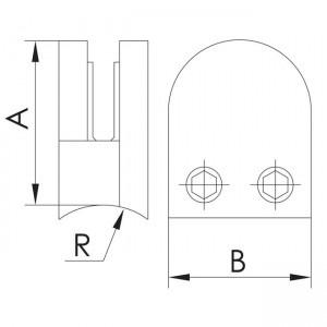pinza vidrio curva
