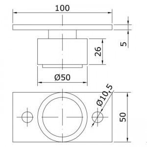 Dibujo técnico guiador inferior U-50