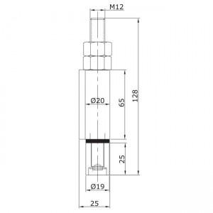 Dibujo técnico Guiador inferior soldar extremo U-19