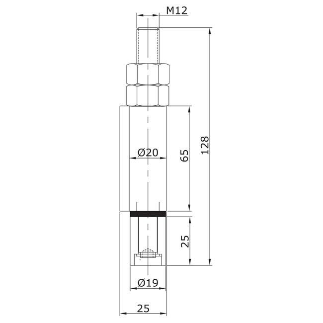 Guiador inferior soldar extremo u 19 acero inoxidable for Puertas correderas curvas
