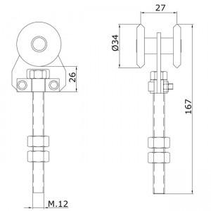 Dibujo técnico rollapar simple U-40 acero