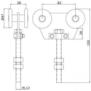 Detalle técnico Rollapar doble U-60 nylon corto
