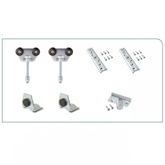 Herrajes para puertas kit puerta corredera hasta 300 kg - Kit puertas plegables ...