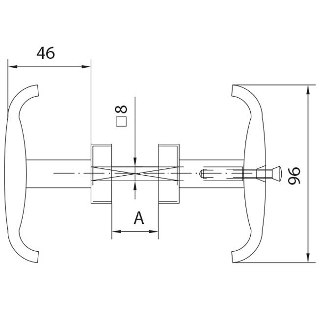 Manetas para puertas de aluminio juego de roseta para for Manetas para puertas
