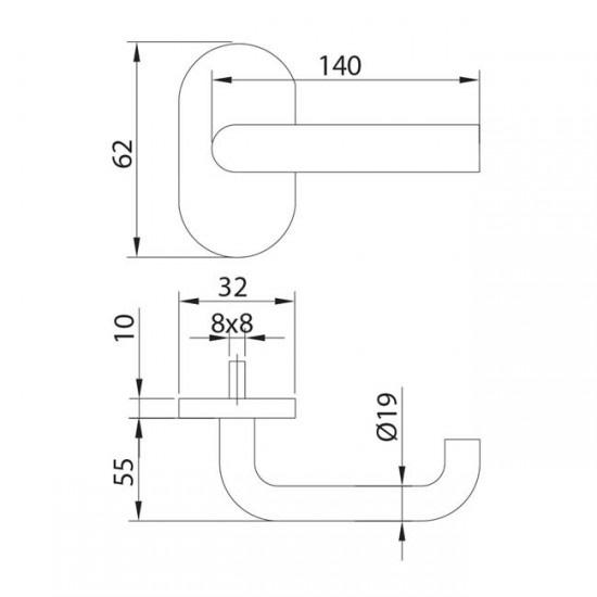 Dibujo técnico manilla modelo 1
