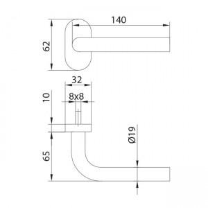 Dibujo técnico manilla modelo 2