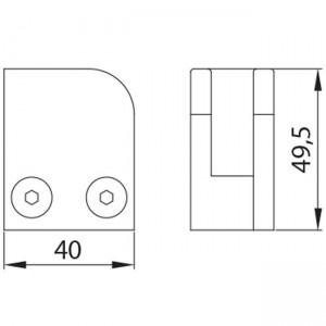 Dibujo técnico Grapa esquina plana derecha