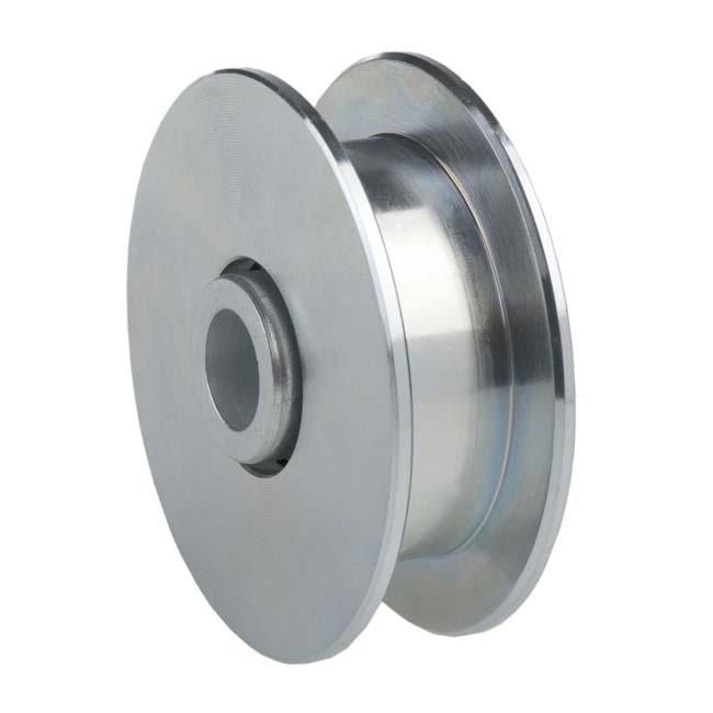Herrajes para puertas polea canal cuadrada 20 mm for Polea para subir muebles