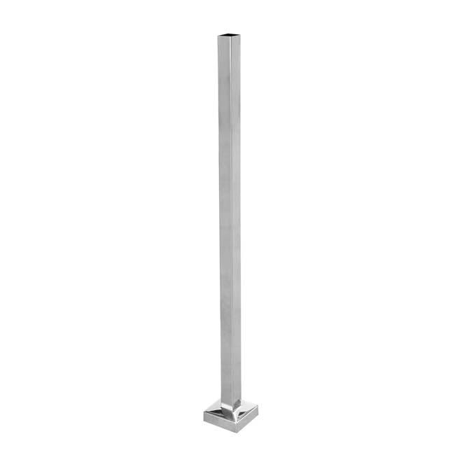Poste con base para barandillas de acero inoxidable - Accesorios de acero inoxidable para barandillas ...