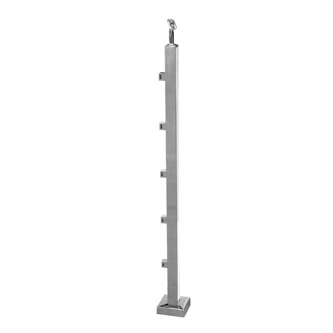 Poste 5 soportes pletina para barandillas de acero inoxidable - Pletina de acero ...