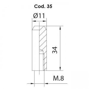 Remate Pasador Cod 35