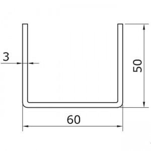 Dibujo técnico Raíl inferior U-50