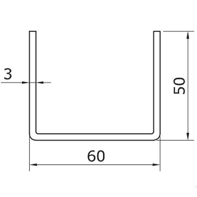 Herrajes para puertas ra l inferior u 50 for Puertas correderas colgadas
