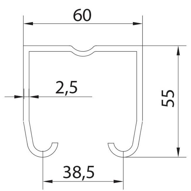 Herrajes para puertas ra l superior u 60 acero inoxidable - Rieles puerta corredera ...