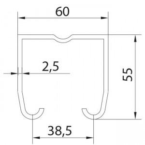 rieles puertas correderas superior u60