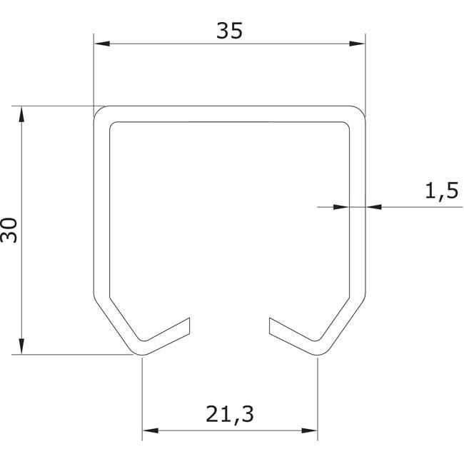 Herrajes para puertas correderas colgadas ra l superior u for Puertas correderas colgadas