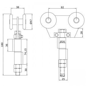 Dibujo técnico Rollapar doble U-60