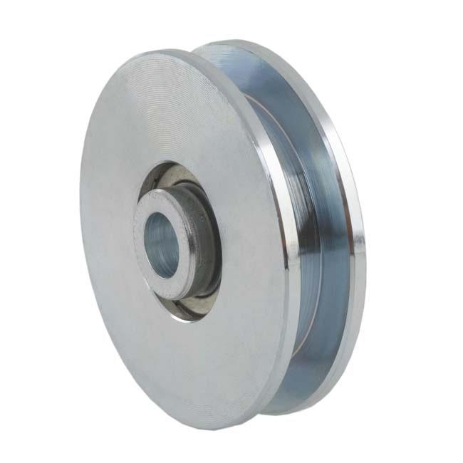 Herrajes para puertas polea canal cuadrada 10 mm for Herrajes puertas correderas garaje