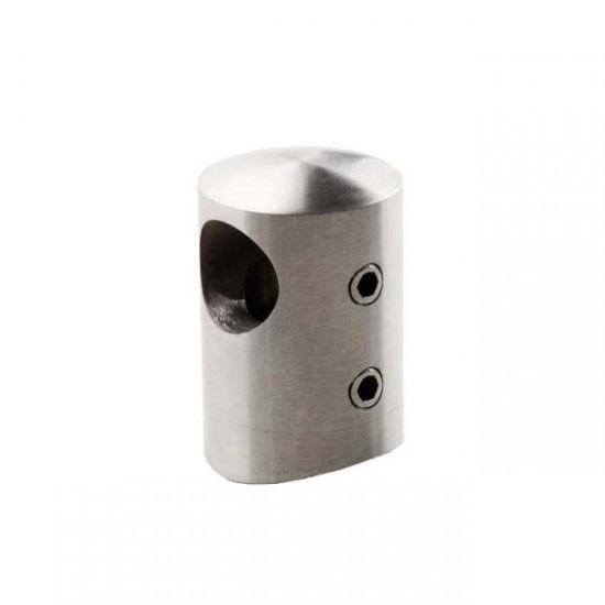 Conector ciego tubo para barandillas acero inoxidable - Tubo acero inoxidable ...