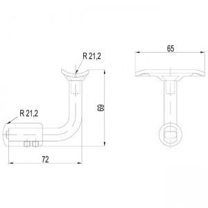 Dibujo técnico Soporte tubo 90º