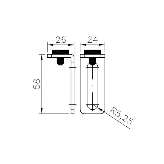 Herrajes para puertas correderas r sticas tope r stico negro for Herrajes para puertas correderas rusticas