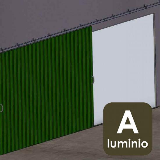Puertas de aluminio correderas fabulous ventanas y for Herrajes puertas correderas garaje