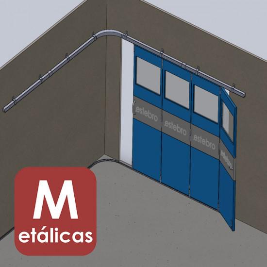 Herrajes puertas articuladas en curva METÁLICAS