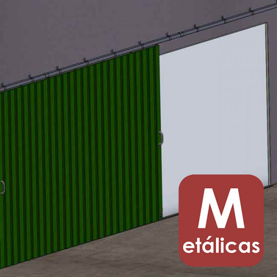 Herrajes puertas correderas colgadas met licas for Puertas corredizas metalicas
