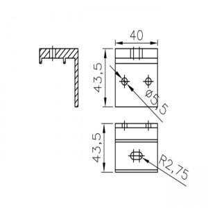 abrazadera rail aluminio puerta corredera