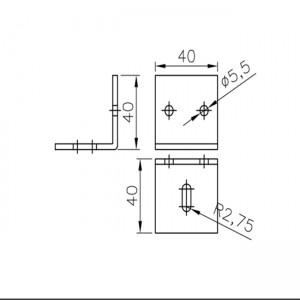 Plano abrazadera raíl aluminio U30 Simple