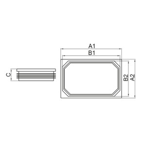 tapón rectangular medidas