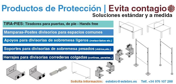protección covid anti contagio mamparas herrajes