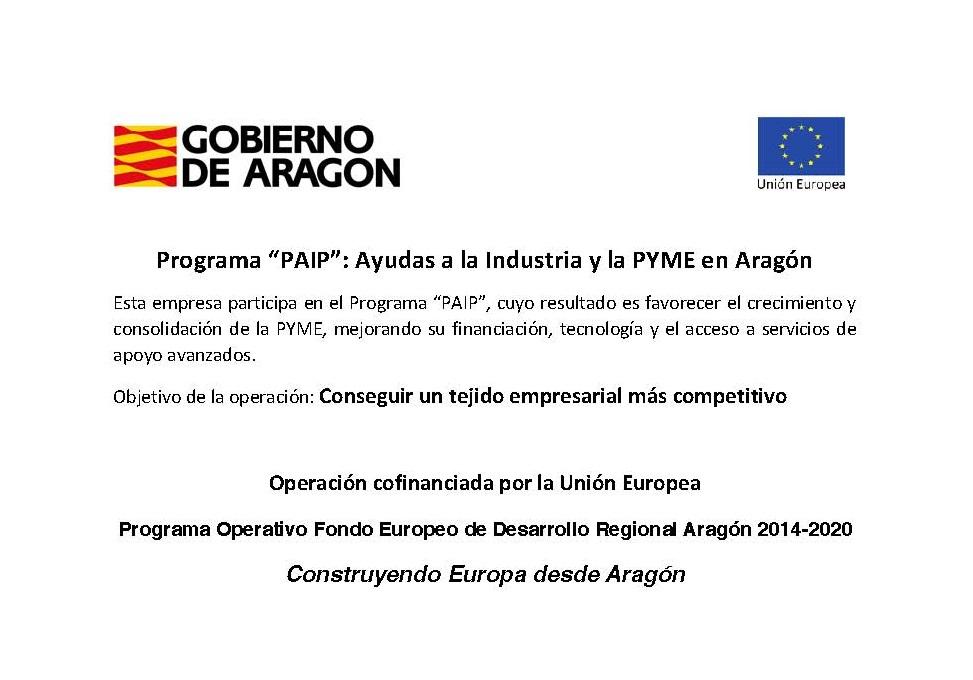 Programa Operativo FEDER Aragon